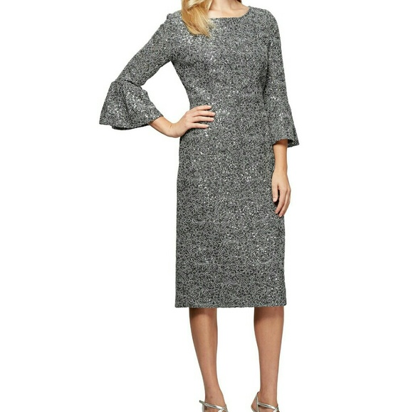 22e8bcaec2 Alex Evenings Dresses | Embroidered Lace Shift Dress Nwot | Poshmark